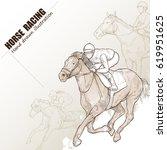 hand drawn illustration of... | Shutterstock .eps vector #619951625