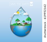 save the earth.eco life with... | Shutterstock .eps vector #619952162
