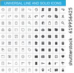 universal line and solid icons...
