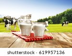 Milk And Landscape With Green...