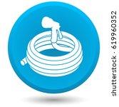 garden hose  vector icon. | Shutterstock .eps vector #619960352