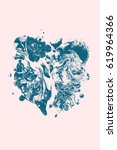 abstract art wallpaper | Shutterstock . vector #619964366