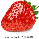 ripe red strawberry  vector...