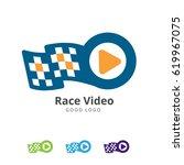 race video logo | Shutterstock .eps vector #619967075