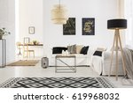 stylish spacious loft with... | Shutterstock . vector #619968032