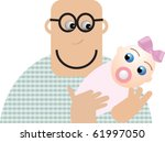 father holding his baby | Shutterstock .eps vector #61997050
