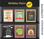 birthday party invitation card... | Shutterstock .eps vector #619980998