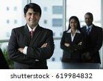 indian business man standing in ... | Shutterstock . vector #619984832