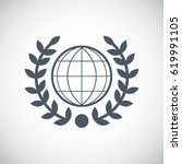 laurel wreath icon in trendy...