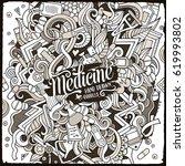 cartoon cute doodles hand drawn ... | Shutterstock .eps vector #619993802