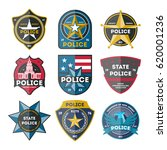 police department badge set... | Shutterstock .eps vector #620001236