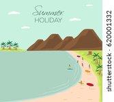 summer holidays beach view...   Shutterstock .eps vector #620001332