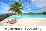 romantic cozy hammock in the... | Shutterstock . vector #620010542