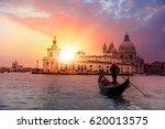 venetian gondolier punting... | Shutterstock . vector #620013575