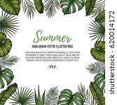 summer tropical postcard... | Shutterstock .eps vector #620014172