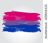 bisexual pride flag in a form...   Shutterstock .eps vector #620016122