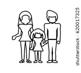 family together lovely outline | Shutterstock .eps vector #620017325