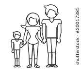 family together lovely outline   Shutterstock .eps vector #620017385