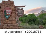 scenic drive in zion national... | Shutterstock . vector #620018786
