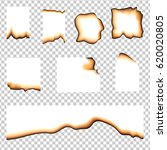 set of burned pieces of paper... | Shutterstock .eps vector #620020805