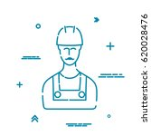 silhouette of builder  man in... | Shutterstock .eps vector #620028476