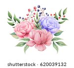 hand painted watercolor... | Shutterstock . vector #620039132