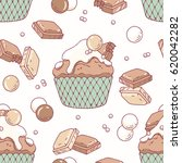 hand drawn seamless pattern... | Shutterstock .eps vector #620042282