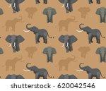 elephant wallpaper asian african | Shutterstock .eps vector #620042546