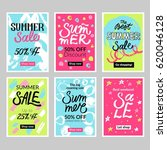 set of summer mobile sale... | Shutterstock .eps vector #620046128