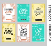 set of summer mobile sale... | Shutterstock .eps vector #620046158