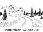 Mountain Road Graphic Black...