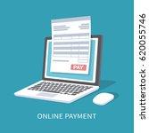 online payment service.... | Shutterstock .eps vector #620055746