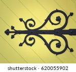 Ornate Decoration On Yellow...