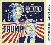 trump and clinton presidential... | Shutterstock .eps vector #620056532