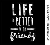 vector quote on black   life is ... | Shutterstock .eps vector #620059796