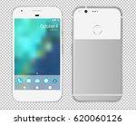modern white smartphone... | Shutterstock .eps vector #620060126