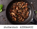mushrooms fried with butter and ...   Shutterstock . vector #620066432