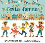 festa junina   brazil june... | Shutterstock .eps vector #620068622