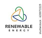 renewable energy logo | Shutterstock .eps vector #620072225