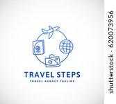 travel steps abstract vector...   Shutterstock .eps vector #620073956