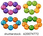 armbands made of round beads... | Shutterstock .eps vector #620074772
