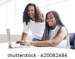 two happy teen taking a break... | Shutterstock . vector #620082686