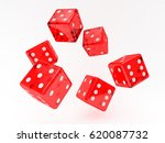 casino dice  isolated on white  ... | Shutterstock . vector #620087732
