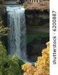 minnehaha falls in autumn   Shutterstock . vector #6200887