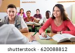 enthusiastic smiling diligent... | Shutterstock . vector #620088812