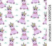 pattern of unicorn. | Shutterstock .eps vector #620089226