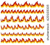 flames of different shapes on a ... | Shutterstock . vector #620103335