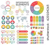 set of infographic elements .... | Shutterstock .eps vector #620104265