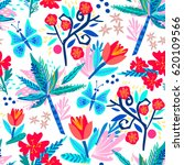 vector seamless pattern of... | Shutterstock .eps vector #620109566