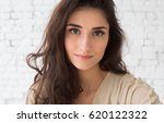 woman portrait natural... | Shutterstock . vector #620122322